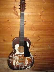 vintage cowboy guitar dog - photo #13