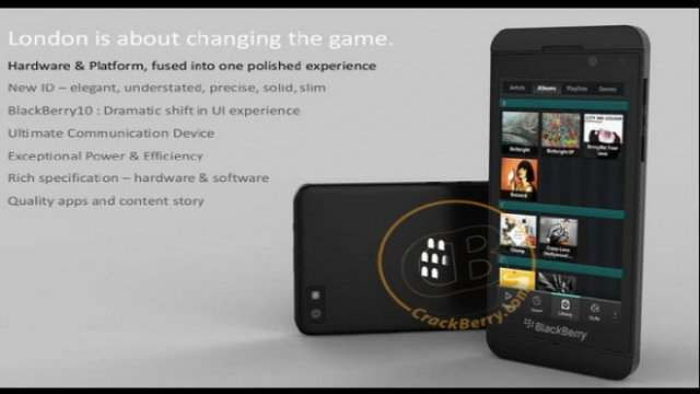 BlackBerry 10 on London Image Leaked