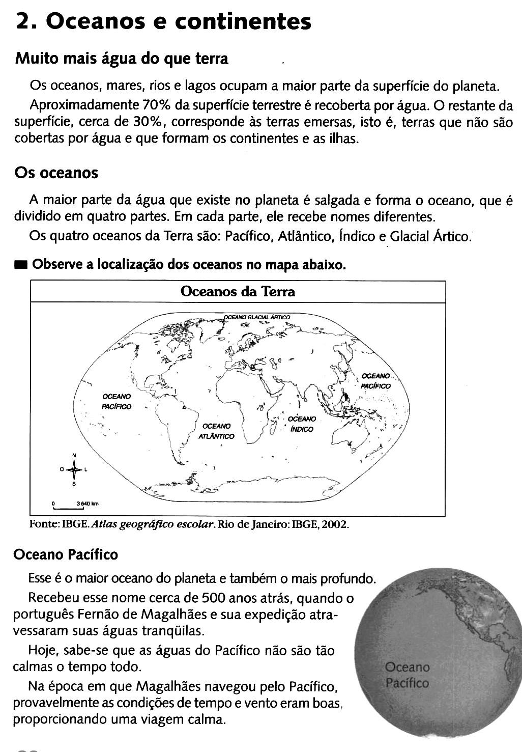 Oceanos E Continentes   5o Ano