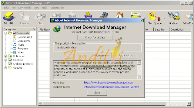 Download IDM 6.25 Full Version + Crack Terbaru 27 Januari 2016 Free