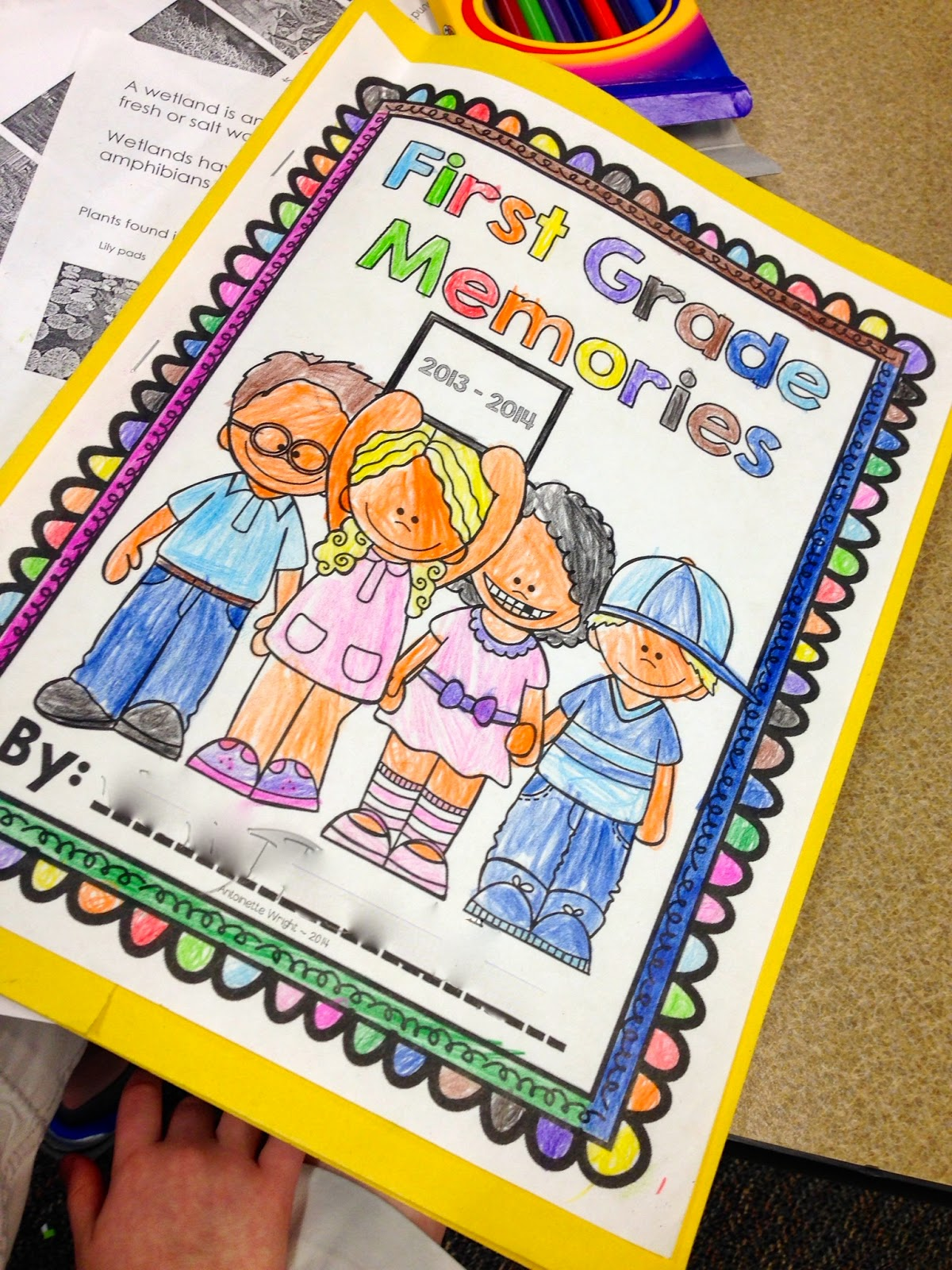 http://www.teacherspayteachers.com/Product/End-of-Year-Memory-Book-1st-and-2nd-Grade-1245970