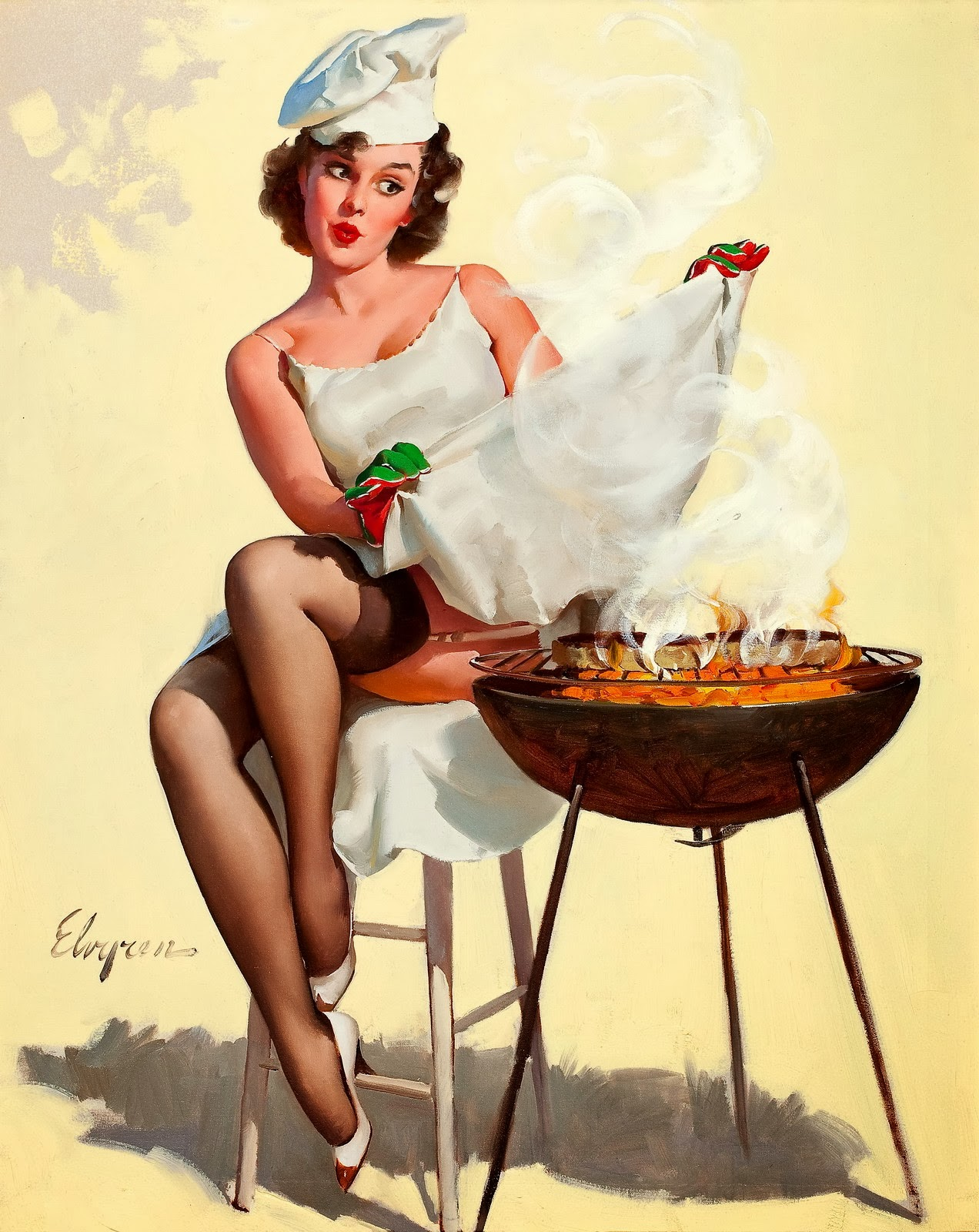 pin up grill masters – pin up and cartoon girls art | vintage and