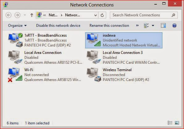 Cara membuat wifi dari laptop tanpa software pada Windows (Virtual AP)