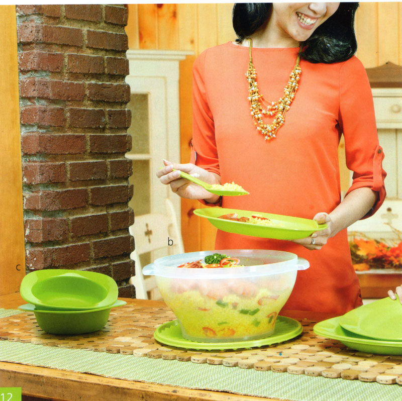 Katalog Tupperware Promo Juni 2013-Blossom Plate-Large Rice Bowl