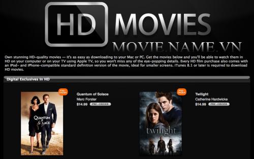 Hướng dẫn chọn phim theo chất lượng DVDRip HDRip m-HD m720p