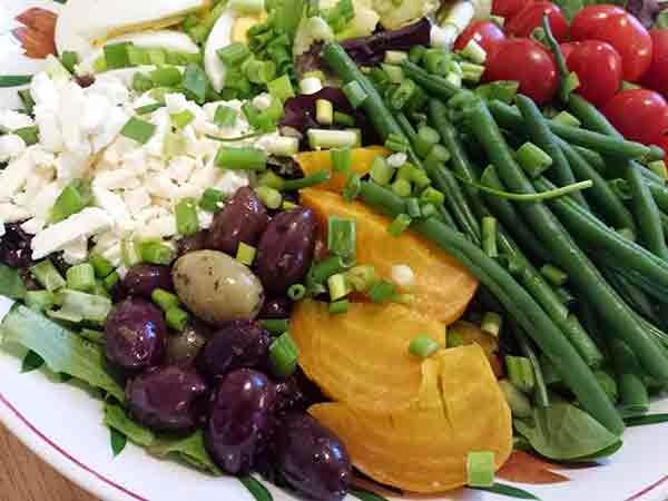 Salad Nicoise and Escarole and Sausage Stuffed Bread
