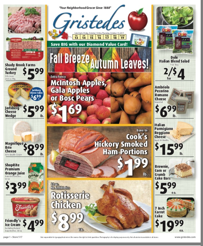 CHECK OUT ROOSEVELT ISLAND GRISTEDES SALES & SPECIALS October 13- October 19