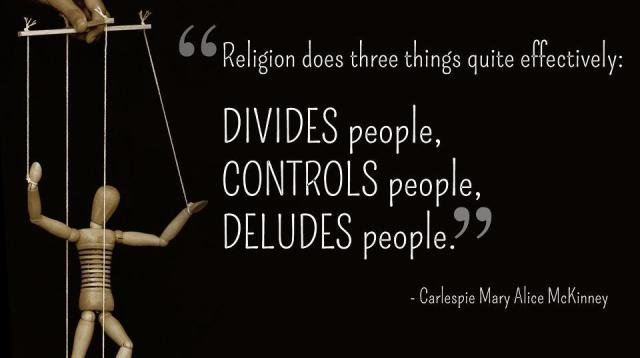 religion make people violant and devided