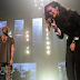Kanye West and Rihanna perform during DirectTV's Superbowl Party
