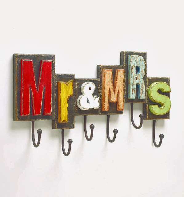 Mr and Mrs Wall Hook