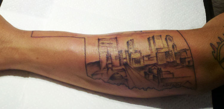 Arcane elements city of tulsa tattoo for Tattoos in tulsa