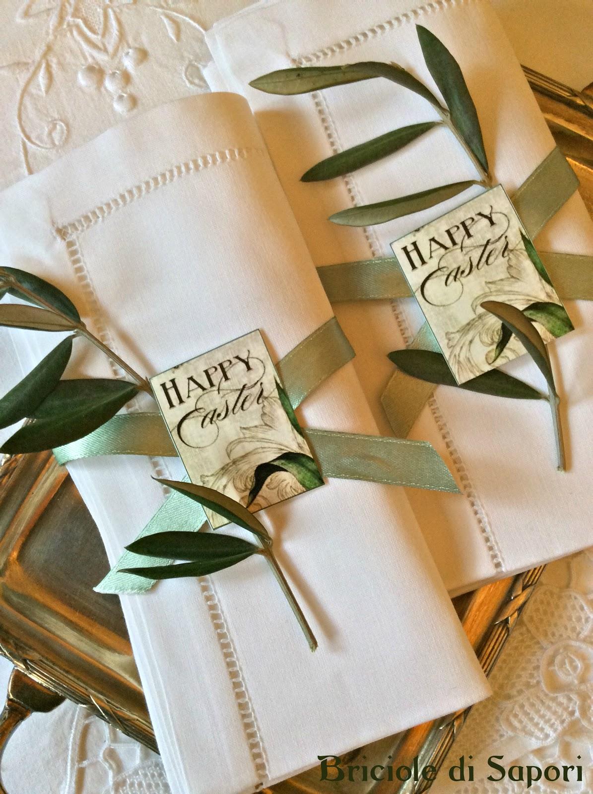 Segnaposto Matrimonio Tema Ulivo : Apparecchiare la tavola di pasqua chic e con una nota