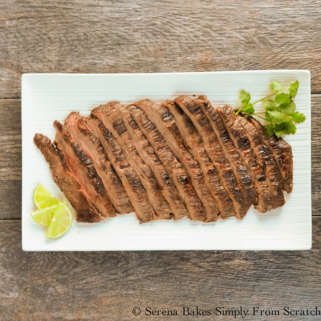 Marinated Carne Asada is a favorite on the grill. | Serena Bakes Simply From Scratch