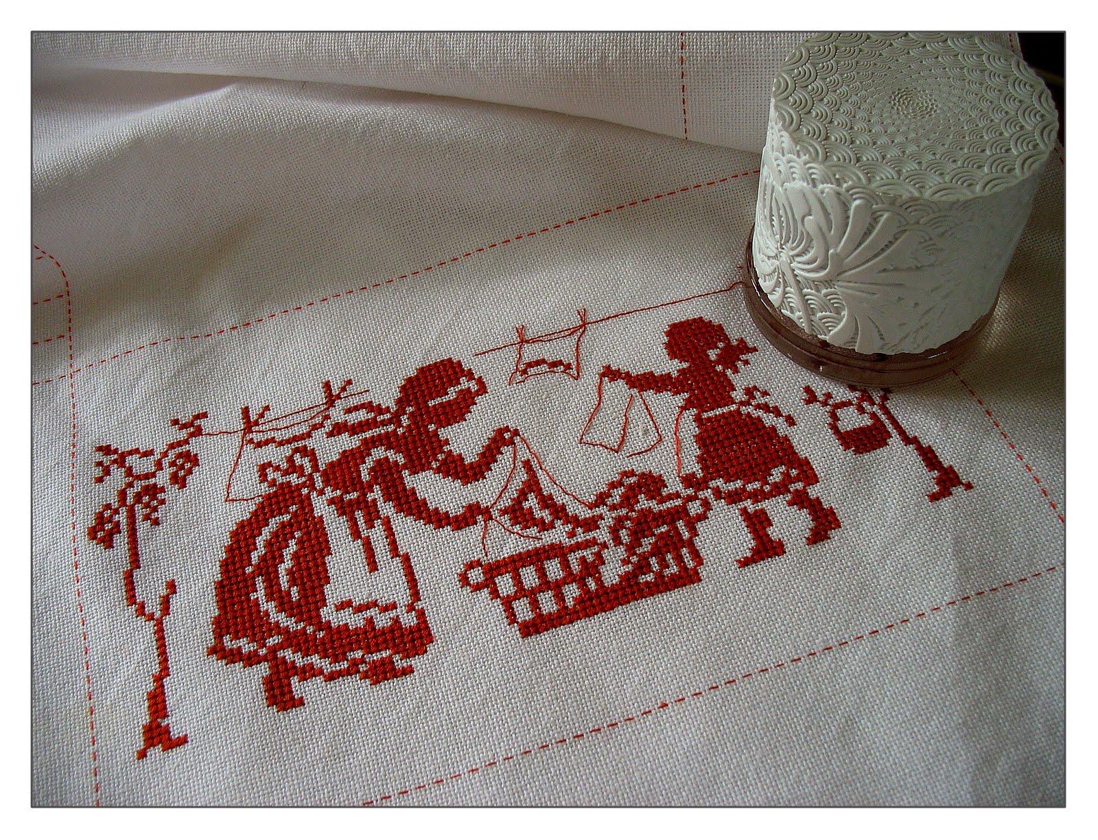 Сделать вышивку на полотенце 165