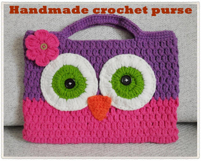 Crochet Patterns For Kids Bags : ... bag-crochet-owl-handbag-kids-knitted-handbag-cute-cotton-bag-free