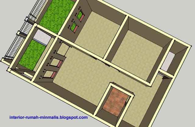 gambar desain rumah sederhana minimalis kpr btn type 21 60