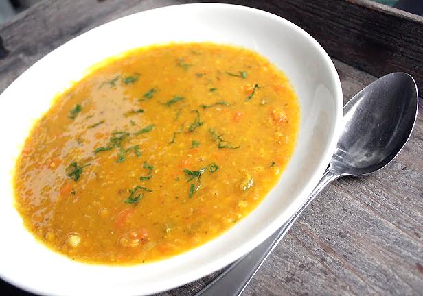 Oppskrift Lindrende Linsesuppe Sunn Vegansk Vegetarisk Suppe