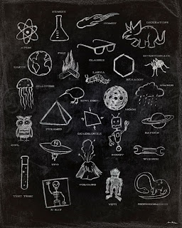 science theme abc's wall art