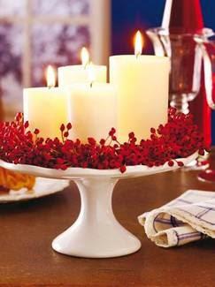 Como fazer centro de mesa de Natal com velas