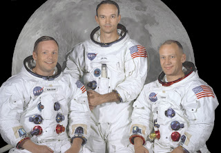 Apollo 11 Astronauts in their space suits.