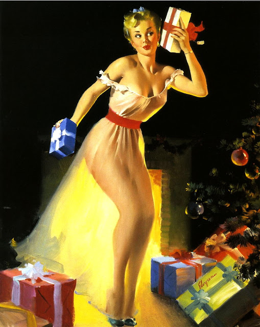 A Christmas Eve (Waiting For Santa) by Gil Elvgren