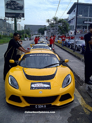 Yellow Lotus Exige S V6 during The Host Largest Lotus Convoy in Malaysia