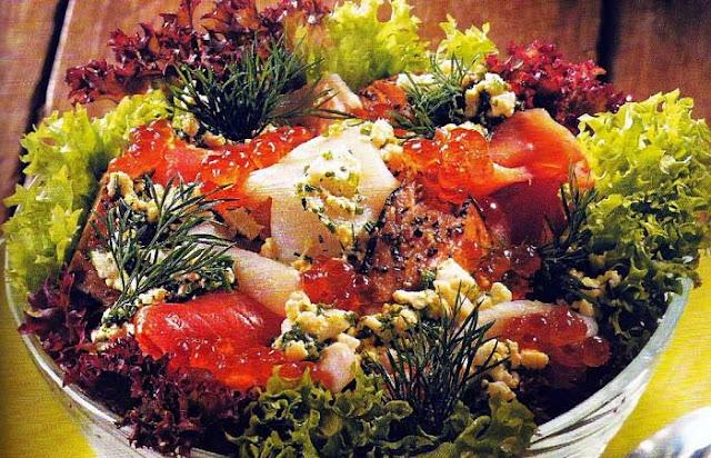 ahumados, alimentación, ensalada, ensaladas, receta, sana, vinagreta,