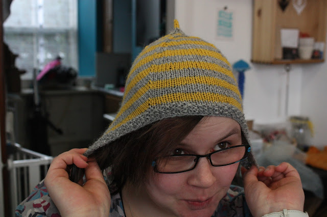 Boss fluph in Adelie hat