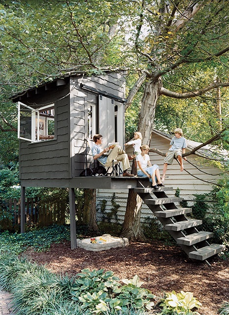 How tiny can you get when it comes to for One tree treehouse plans