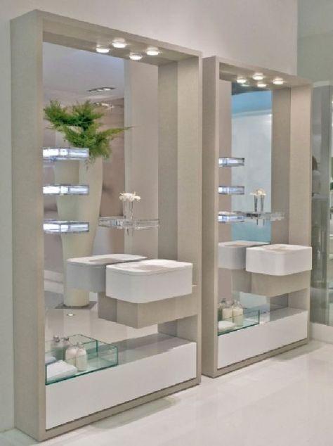 Modernos dise os de espejos para el ba o dise os de ba os - Espejos de bano de diseno ...