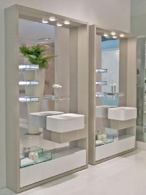Modernos dise os de espejos para el ba o - Espejo para bano moderno ...