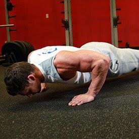 flexão de braço posição final
