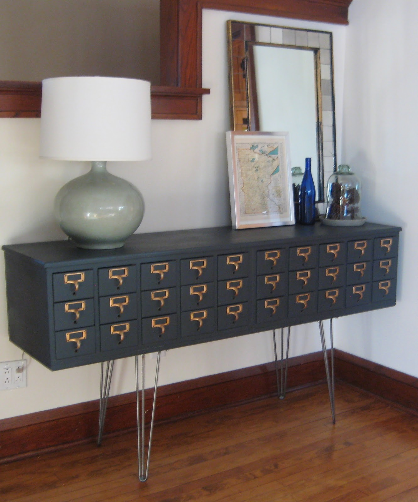 Dishfunctional Designs Vintage Library Card Catalogs Transformed Into Awesome Furniture