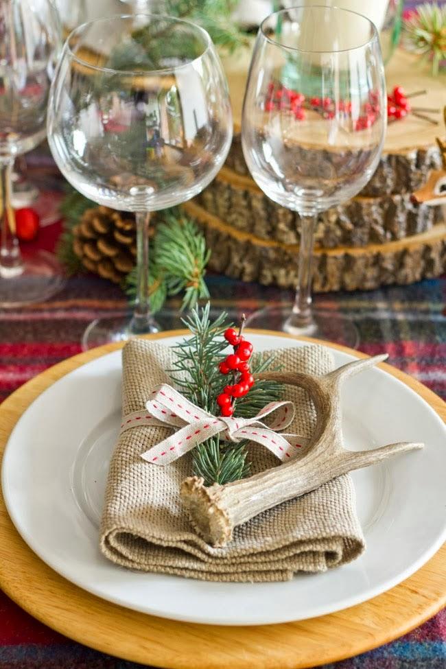 Las delicias de mayte mesas de navidad for Decoracion navidena rustica