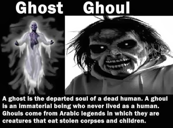 Differences between Ghost and Ghoul
