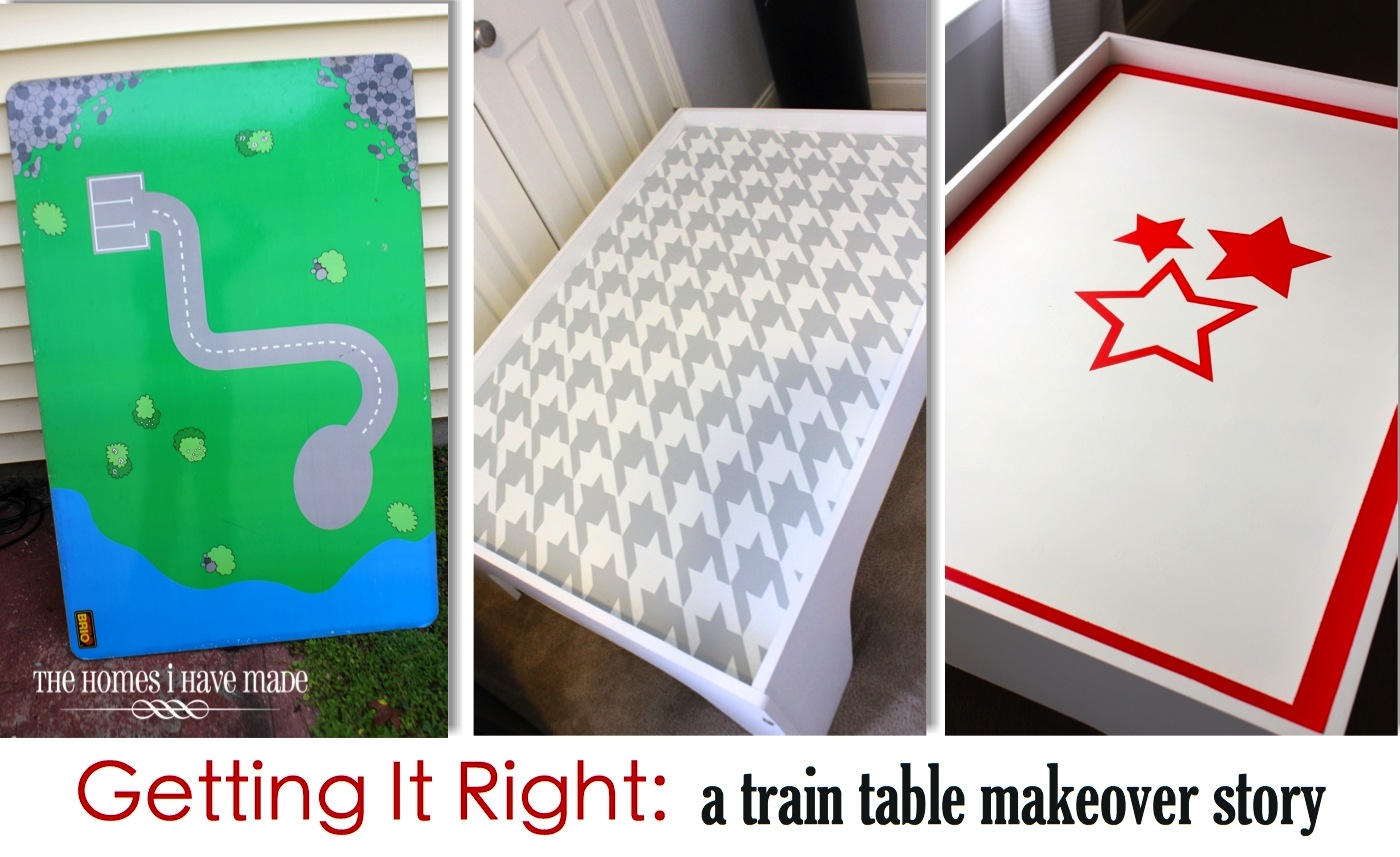 Getting It Right: A Train Table Makeover Story - Part I | The Homes ...