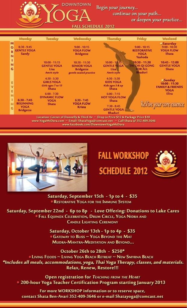 What To Do In Mount Dora Fall Schedule For Downtown Yoga