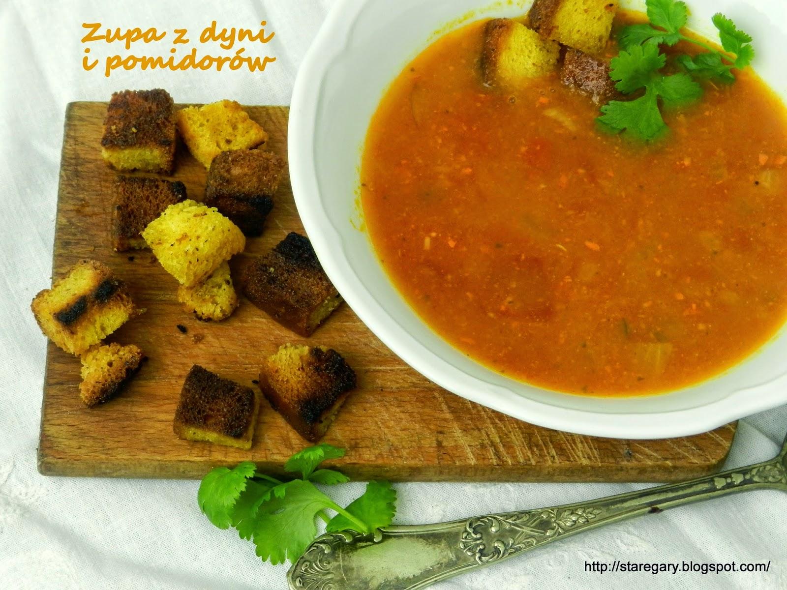Zupa z dyni i pomidorów - pikantna