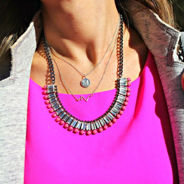 perry street pink necklace