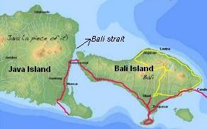 Folk story of Bali strait