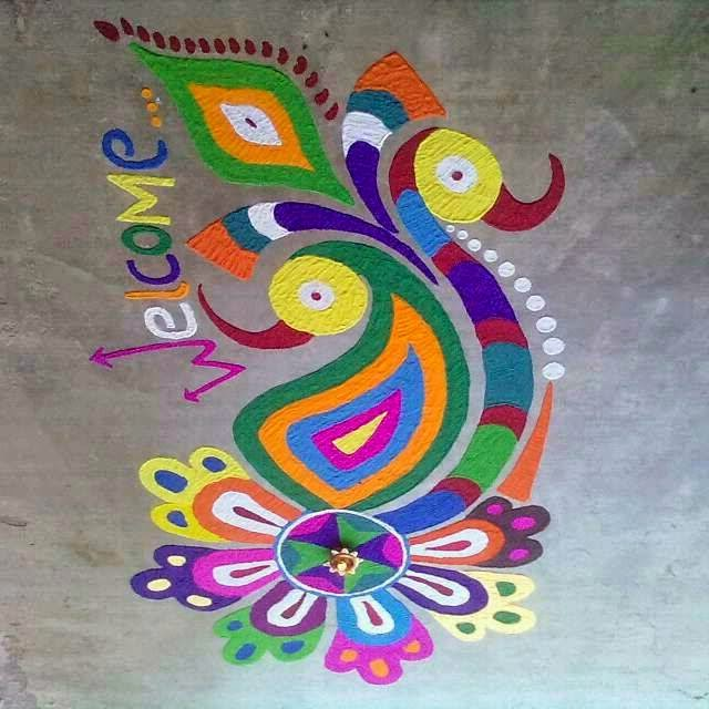 Rangoli on Pinterest | Rangoli Designs, Diwali Rangoli and Diwali