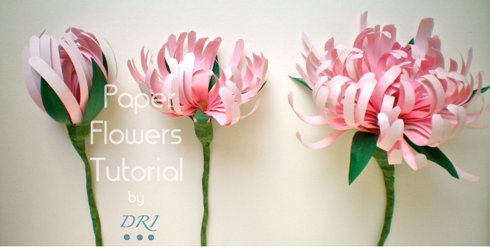 tutorial flores de papel. paper flowers tutorial