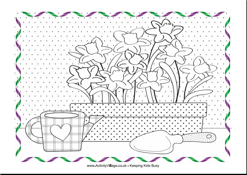 Transmissionpress Spring Gardening Coloring Page