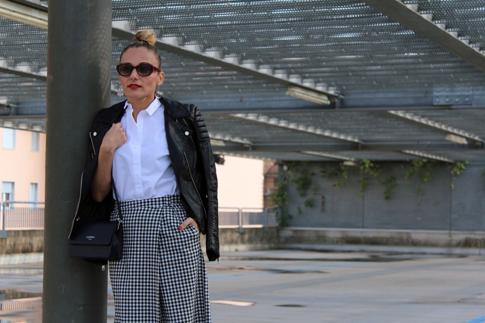 Eniwhere Fashion - Checked culottes