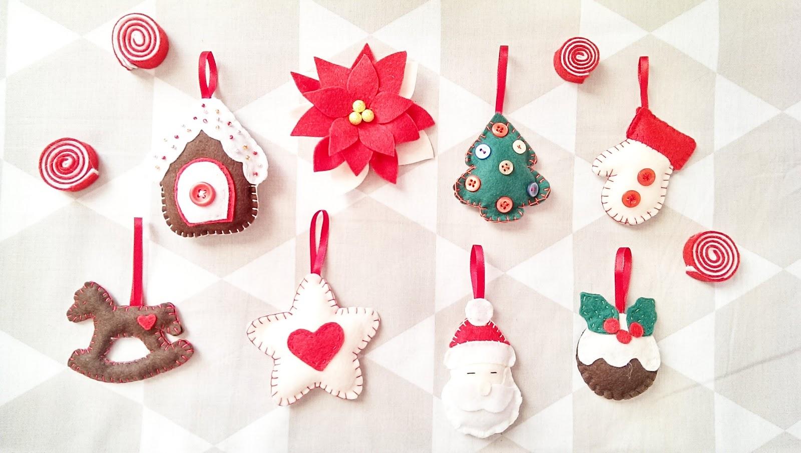 peony nanni christmas decorazioni in pannolenci per natale