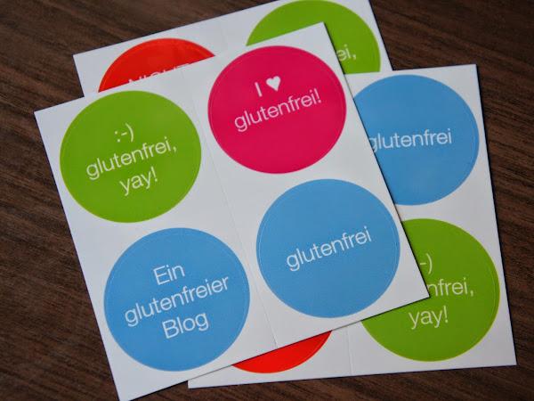 Sticker für die Kennzeichnung von glutenfreien Produkten!