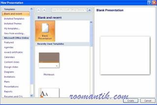 Memulai presentasi baru