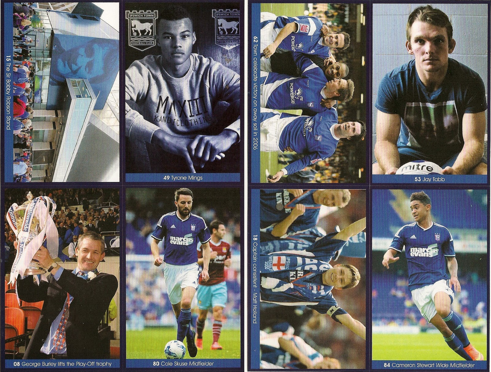 Ipswich Town FA Cup 1978 Programme Trading Card Set