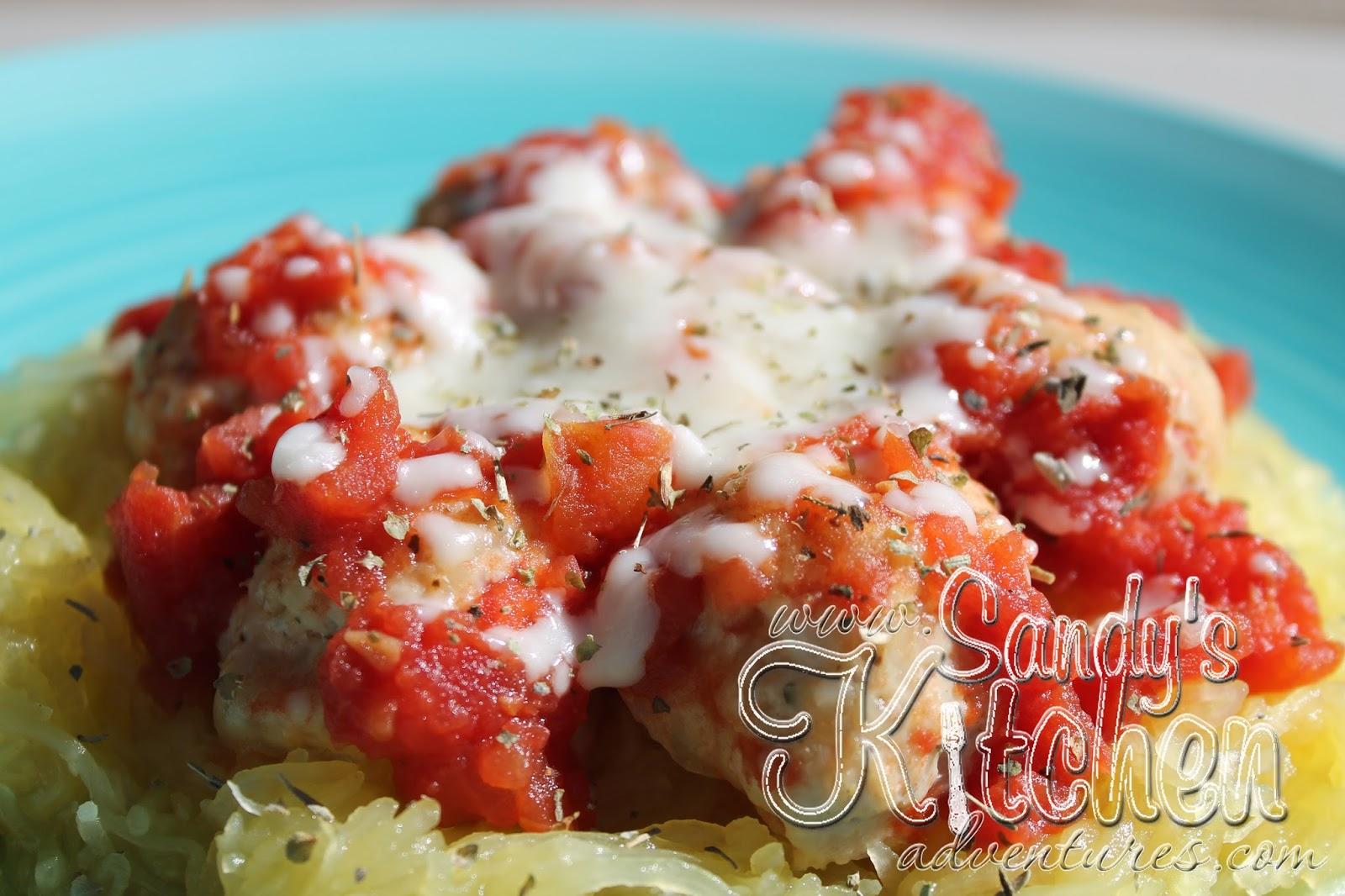 Chicken Parmesan Meatballs | Sandy's Kitchen