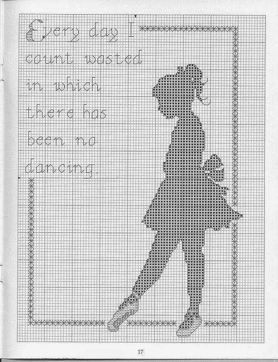 Схемы балерин вышивок крестом 297